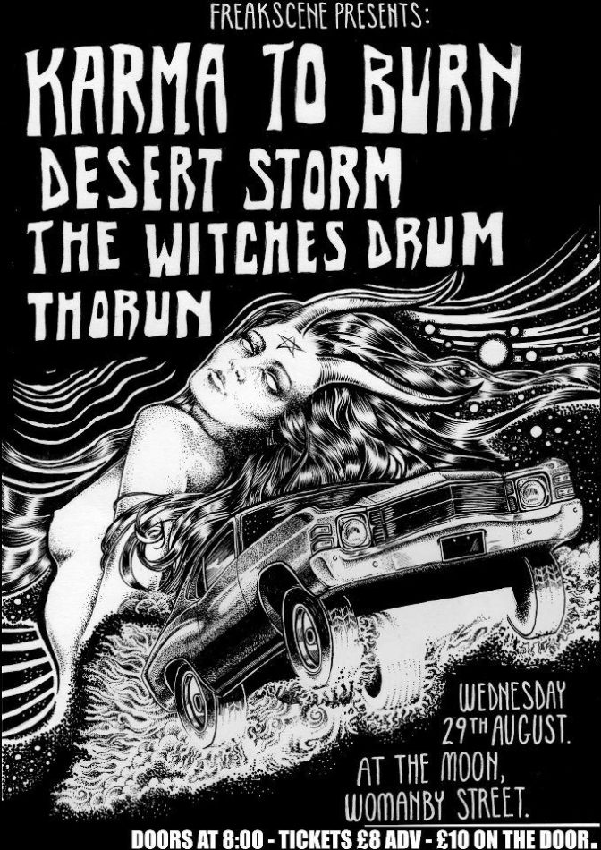August Live Dates for The Witches Drum with Karma To Burn and 15 Die A Day