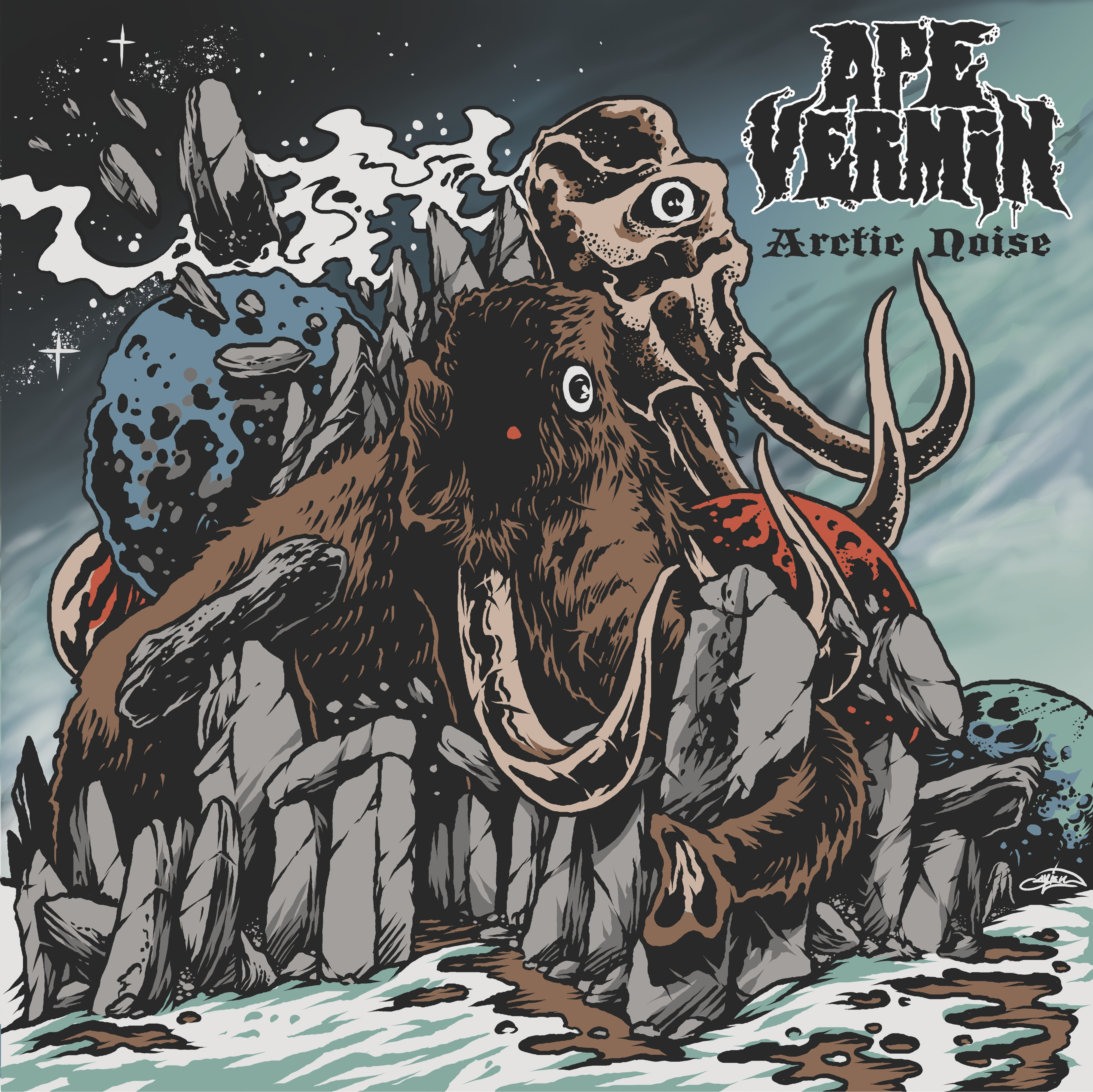 Progressive-Doom Trio APE VERMIN Get Stoned-Cold on Arctic Noise EP /// Stream the Title Track Now!